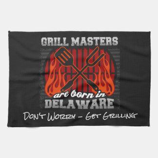 Grill Masters Are Born In Delaware Add A Slogan Kitchen Towel
