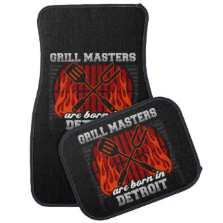 Grill Masters Are Born In Detroit Michigan Car Floor Mat