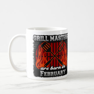 Grill Masters are Born in February Coffee Mug