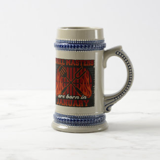 Grill Masters Are Born In January Beer Stein