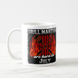 Grill Masters are Born in July Coffee Mug