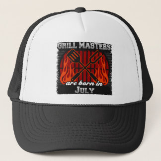 Grill Masters are Born in July Trucker Hat