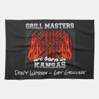Grill Masters Are Born In Kansas Add A Slogan Kitchen Towel