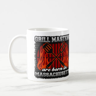 Grill Masters are Born in Massachusetts Coffee Mug