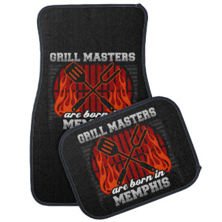 Grill Masters Are Born In Memphis Tennessee Car Floor Mat