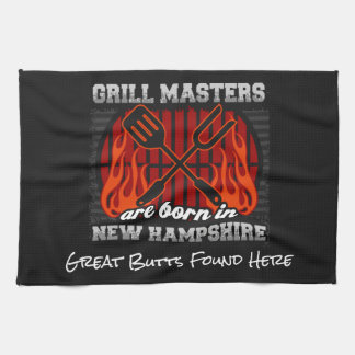 Grill Masters Are Born In New Hampshire Any Slogan Hand Towel
