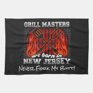 Grill Masters Are Born In New Jersey Add A Slogan Hand Towel
