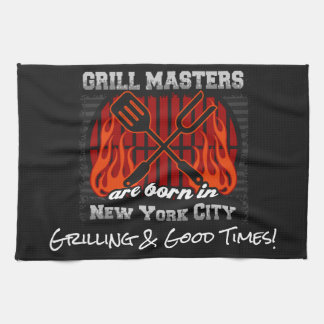 Grill Masters Are Born In New York City Any Slogan Towel