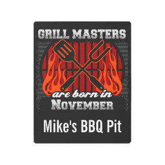 Grill Masters Are Born In November Personalized Metal Print
