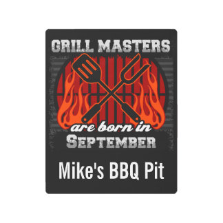Grill Masters Are Born In September Personalized Metal Print