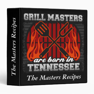 Grill Masters Are Born In Tennessee Personalized Binder