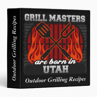 Grill Masters Are Born In Utah Personalized Binder