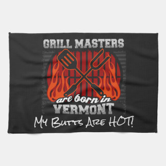 Grill Masters Are Born In Vermont Add A Slogan Kitchen Towel