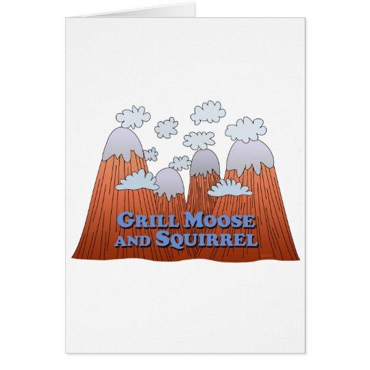 Grill Moose and Squirrel - Dark Card