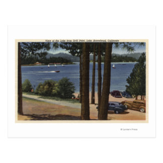Grill Point View of Lake Postcard