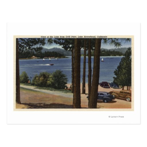 Grill Point View of Lake Post Cards