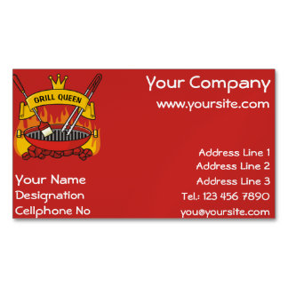 Grill Queen Business Card Magnet