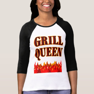 Grill Queen Funny BBQ Cook T-shirt
