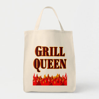 Grill Queen Funny BBQ Saying Tote Bag