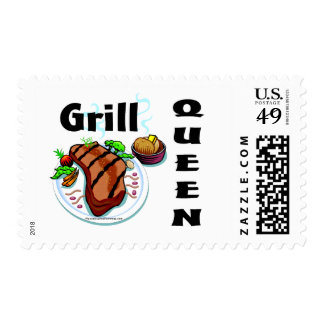 Grill Queen Postage Stamp