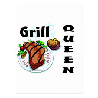 Grill Queen Postcard