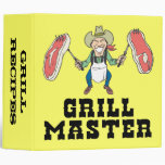 Grill Recipes Binder Vinyl Binder