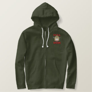 Grill Sargent Barbeque Fun Embroidered Hoodie