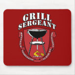 Grill Sergeant Barbecue Summer July 4th Mousepad