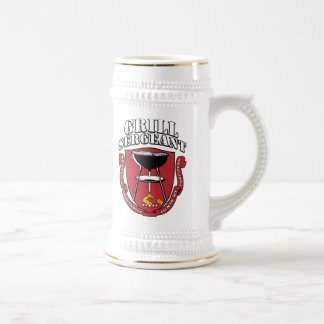 Grill Sergeant Barbecue Summer July 4th 18 Oz Beer Stein