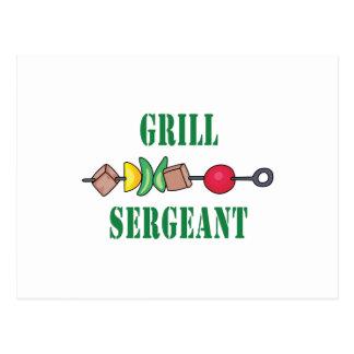 Grill Sergeant Postcard