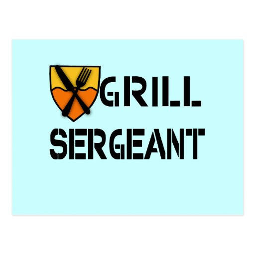 Grill Sergeant Products Postcard