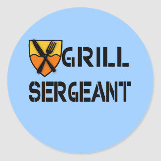 Grill Sergeant Products Round Sticker