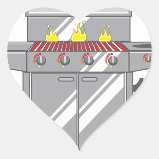 Grill Super Heart Sticker