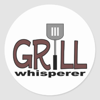 Grill Whisperer Classic Round Sticker