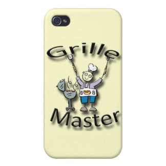 Grille Master black iPhone 4/4S Cases