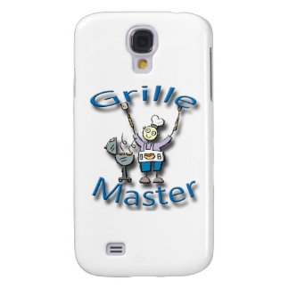 Grille Master blue Galaxy S4 Cases
