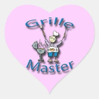 Grille Master blue Heart Sticker