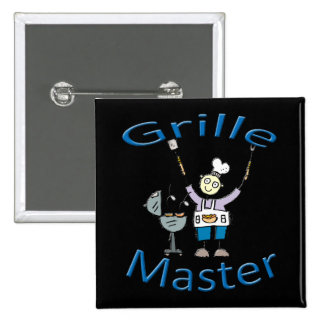 Grille Master blue Pinback Buttons