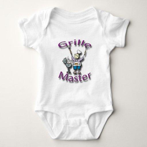 Grille Master violet Baby Bodysuit