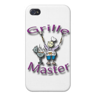 Grille Master violet Cases For iPhone 4