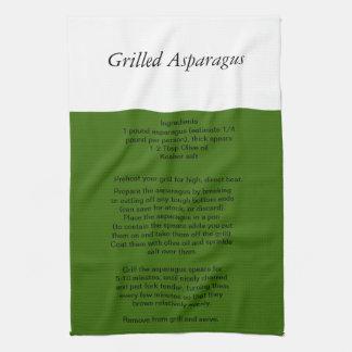 Grilled Asparagus Recipe towel