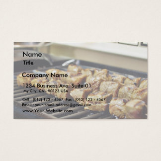Grilled Beef Kabobs Food Business Card