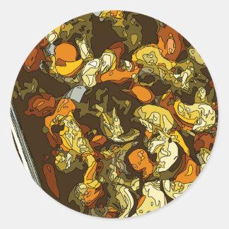 Grilled Carrots Zucchini and Mushroom Dish Classic Round Sticker