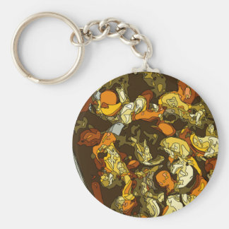 Grilled Carrots Zucchini and Mushroom Dish Keychains