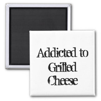 Grilled Cheese 2 Inch Square Magnet
