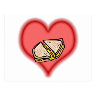 grilled cheese postcard