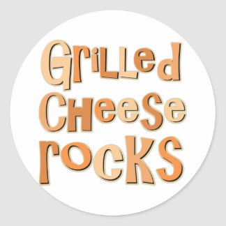 Grilled Cheese Rocks Classic Round Sticker