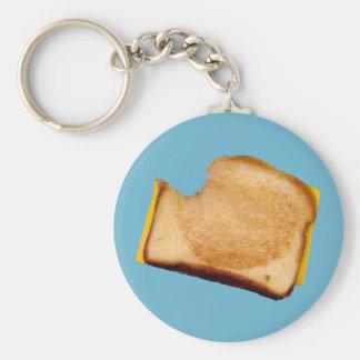 Grilled Cheese Sandwich Basic Round Button Keychain