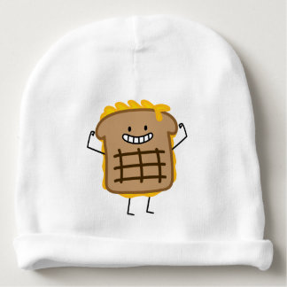 Grilled Cheese Sandwich Cheddar Toasted Bread Baby Beanie