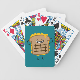 Grilled Cheese Sandwich Cheddar Toasted Bread Bicycle Playing Cards